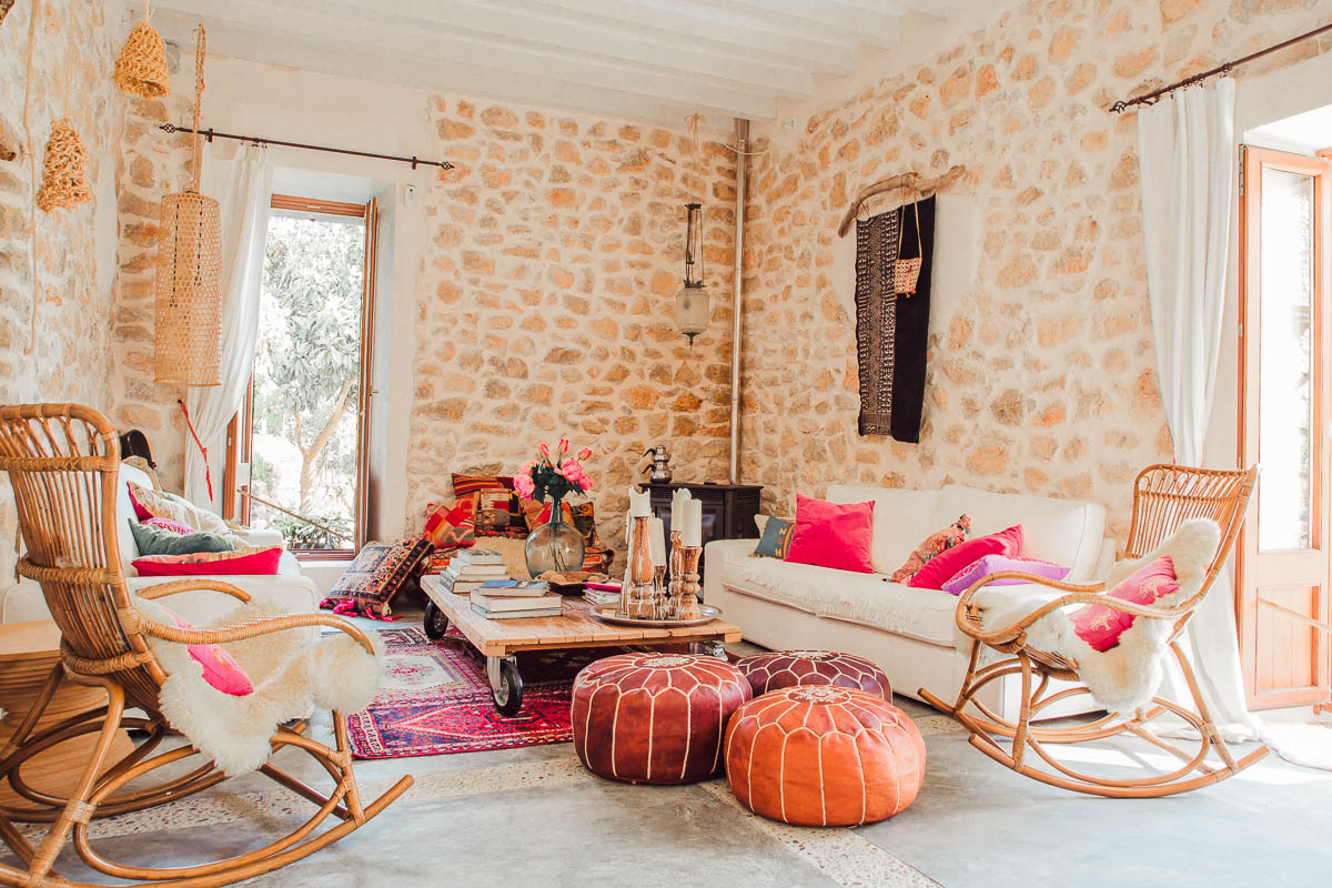 Pink Peppertree living room