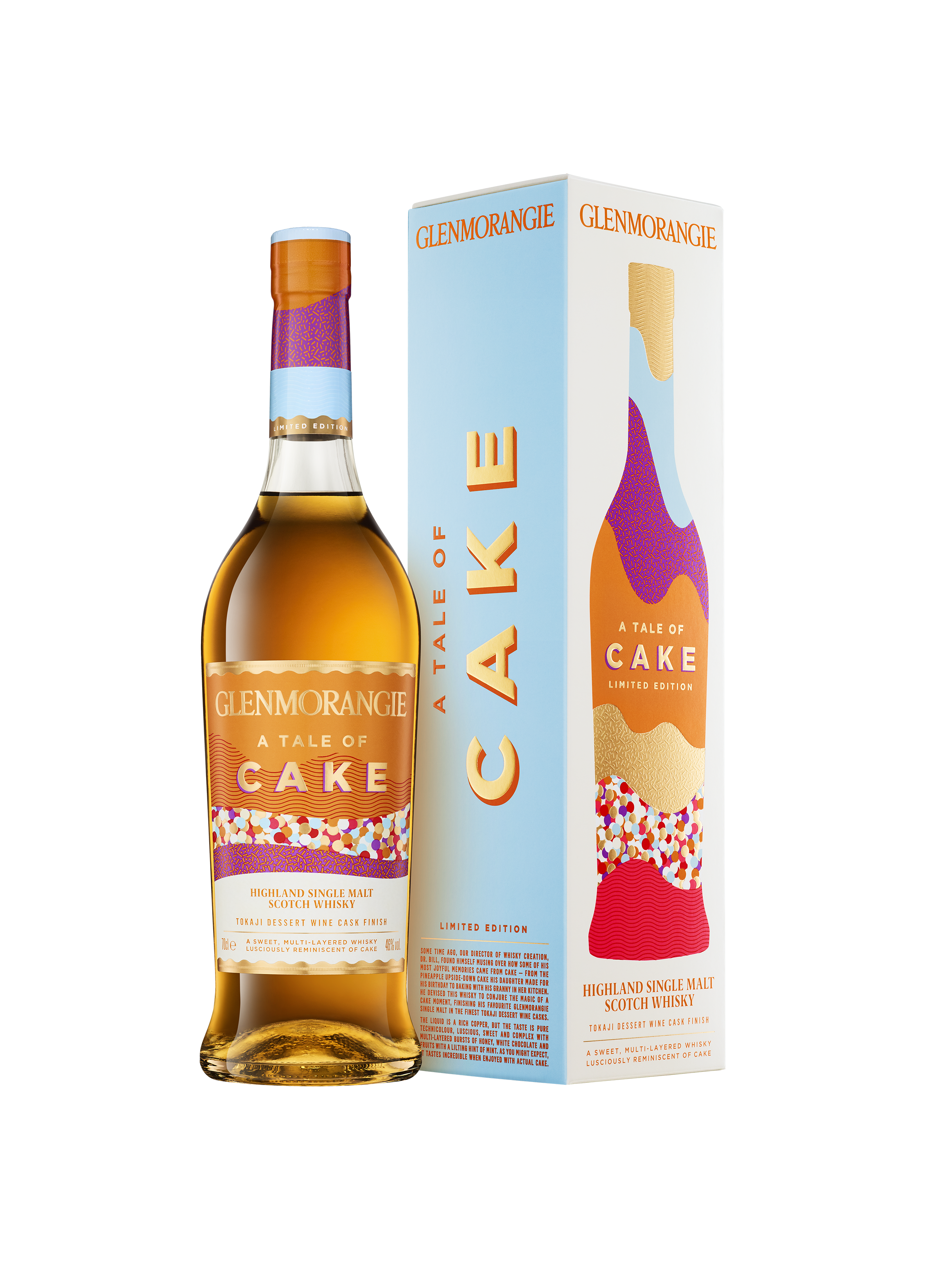 Glenmorangie Tale Of Cake Bottle And 1 Pack On Transparent LoRes