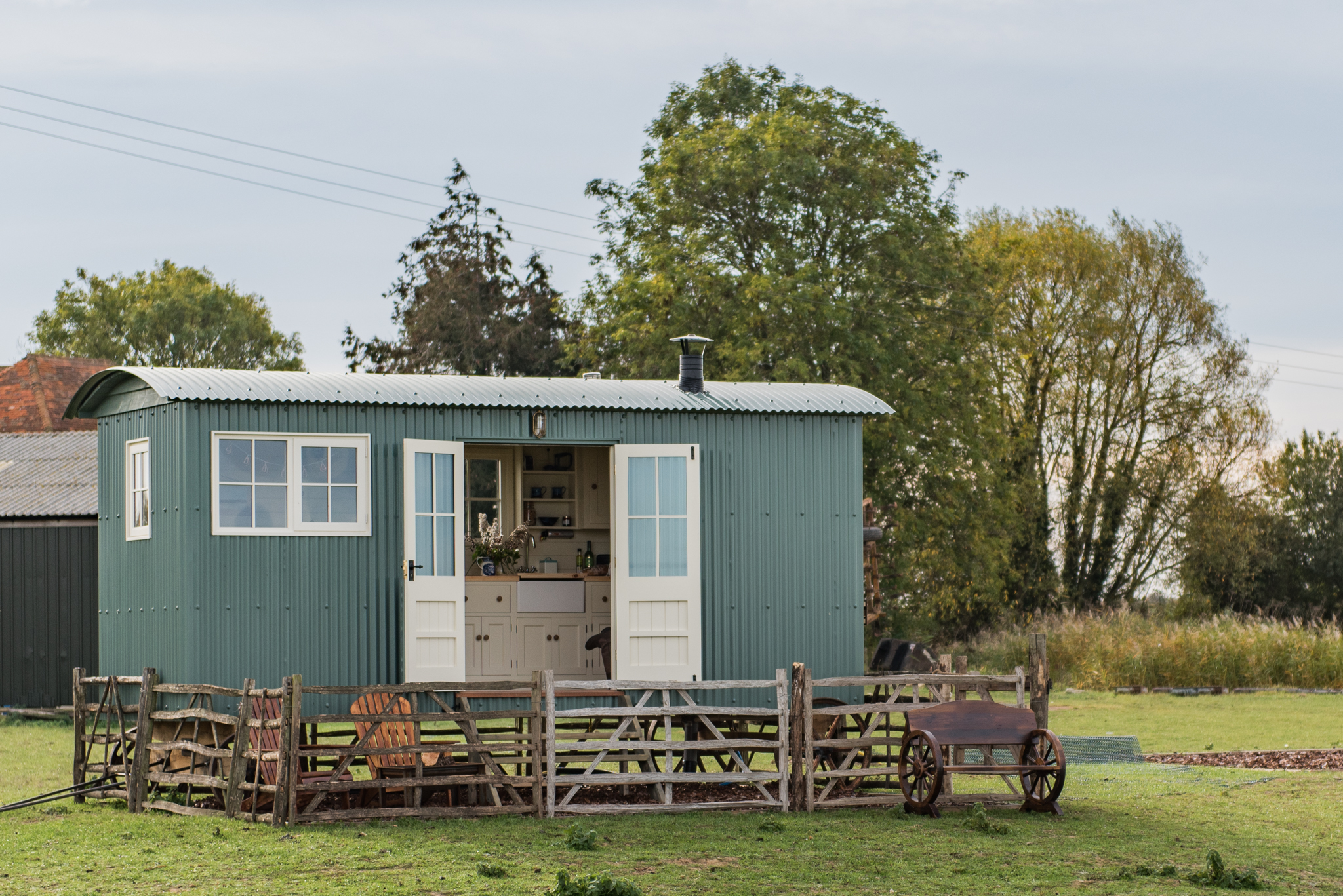 Romney Marsh Shepherds Huts - Exterior View of The Lookerer HR_Credit Matilda Delves Photography