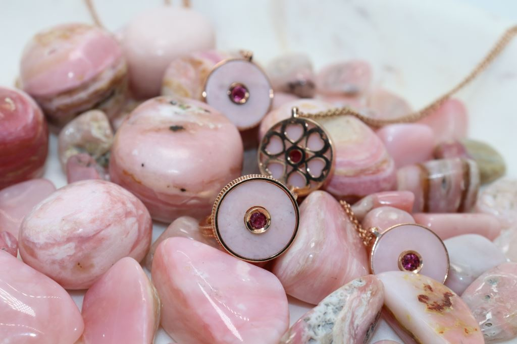 hearts and pink opal